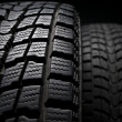 Stock Photo: Close up detail of winter tire tread