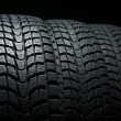 Stock Photo: Close up of three winter tires