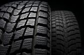 Close up detail of winter tire tread — Stock Photo