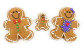 Gingerbread Cookie Family — Stock Photo