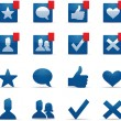 Social Networking Icons — Stock Vector