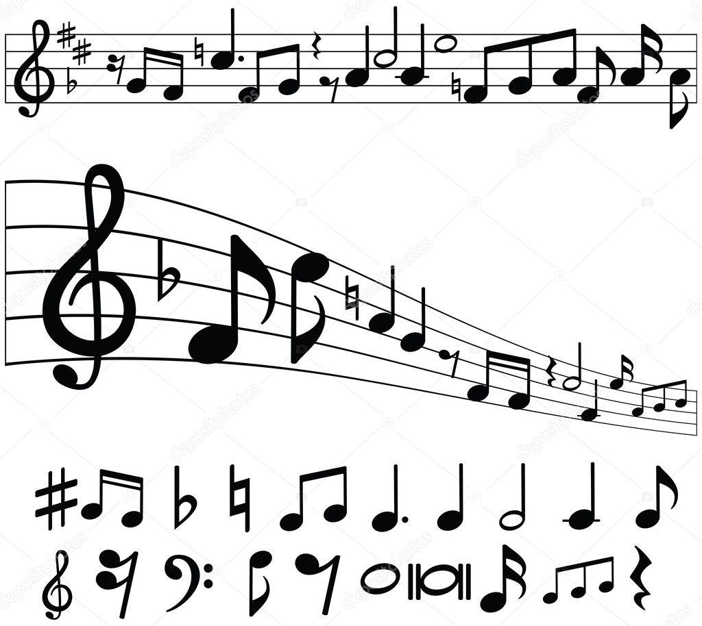 Music Notes — Stock Vector © jhansen2 #9936400