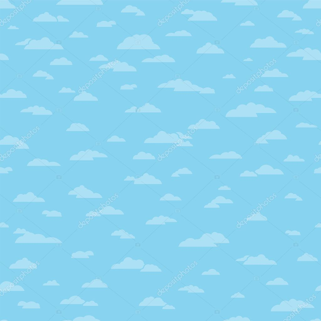 Seamless cloud background pattern. — Stock Vector #9953427