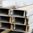 Stock Photo: Metal profiles channel