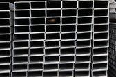 Metalowych profili kwadratowych — Zdjęcie stockowe