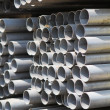 Stock Photo: Metal profiles tube