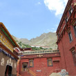 Buddhist monastery in Tibet - Stock Photo