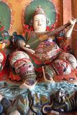 Sculpture in the Buddhist monastery — Stok fotoğraf