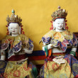 Sculpture in the Buddhist monastery — Stock Photo