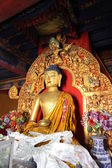 Sculpture in the Buddhist monastery — Photo
