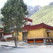 Stock Photo: Buddhist monastery in Tibet