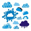 Stylized clouds collection - Stock Vector