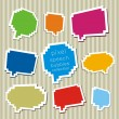Stock Vector: Collection of pixel speech bubbles