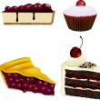 Постер, плакат: Cake and Pastry Collection Cherries