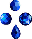 Sapphire Beads — Stock Vector