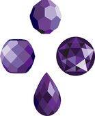 Faceted Amethyst beads — Stock Vector