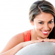 Pilates woman - Foto Stock