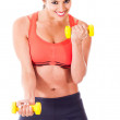 Fit woman training — Stock Photo