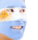 Man with Argentinean flag — Stock Photo