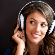 Woman listening to music — Stock Photo #10052874