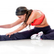 Stock Photo: Woman doing stretching exercises