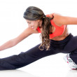 Fit womstretching — Stock Photo #10052885