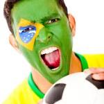 Brazilian football fan — Stock Photo #10052928