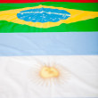 Latin American flags — Foto de Stock