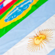 Stock Photo: South American flags