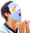 Argentinean man shouting - Stock Photo