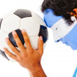 Argentinean football fan - Stock Photo