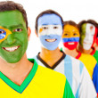 Brazil leading a team — Stock Photo