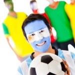 Group of footballs fan — Stock Photo