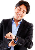 Businessman watching the time — Stock Photo