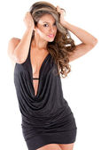 Woman in a sexy dress — Stock Photo