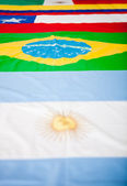 Latin American flags — Stock Photo