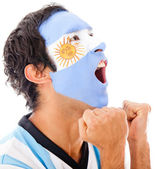 Argentinean man shouting — Stock Photo