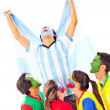 Argentina as champion — Stock Photo