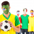 Royalty-Free Stock Photo: Brazilian football fan