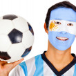 Argentinean football fan — Stock Photo