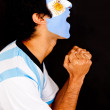 Stock Photo: Argentinean man shouting
