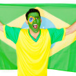 Brazilian man celebrating — Stock Photo #10110353