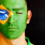 Patriotic man from Brazil — Stock Photo #10110363