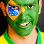 Patriotic Brazilian man — Stock Photo
