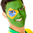 Stock Photo: Mwith flag of Brazil