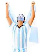 Argentinean man celebrating — Stock Photo