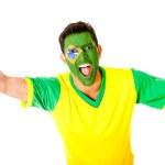 Brazilian man celebrating — Stock Photo