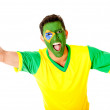 Stock Photo: Brazilimcelebrating