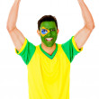 Stock Photo: Excited Braziliman