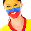 Happy Colombian woman - Stockfoto